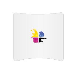 Messewand - Textilwand ECO horizontal gebogen